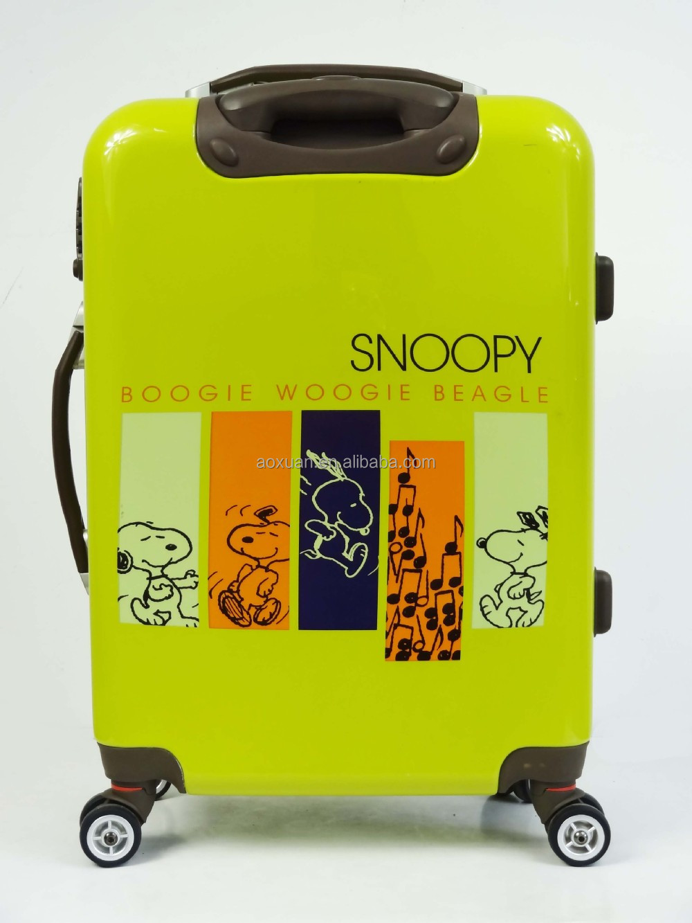 abs pc luggage bag Alibaba Shanghai Factory travel luggage bag snoopy luggage