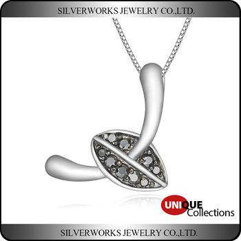 2016 Unique Design 925 Sterling Silver Pendant With Zicrons