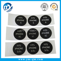 Iphone case box round seal sticker with customized printing