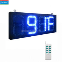 China manufacturer outdoor led clock display with GPS