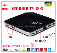 De alta calidad de la mxii amlogic s805 quad core android caja del <span class=keywords><strong>internet</strong></span> tv mxii android tv box con xbmc wifi 3g <span class=keywords><strong>Dongle</strong></span>
