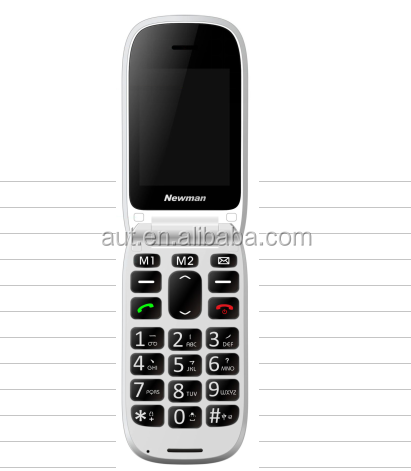 New model 2.4 inch Big button flip mobile phone F520