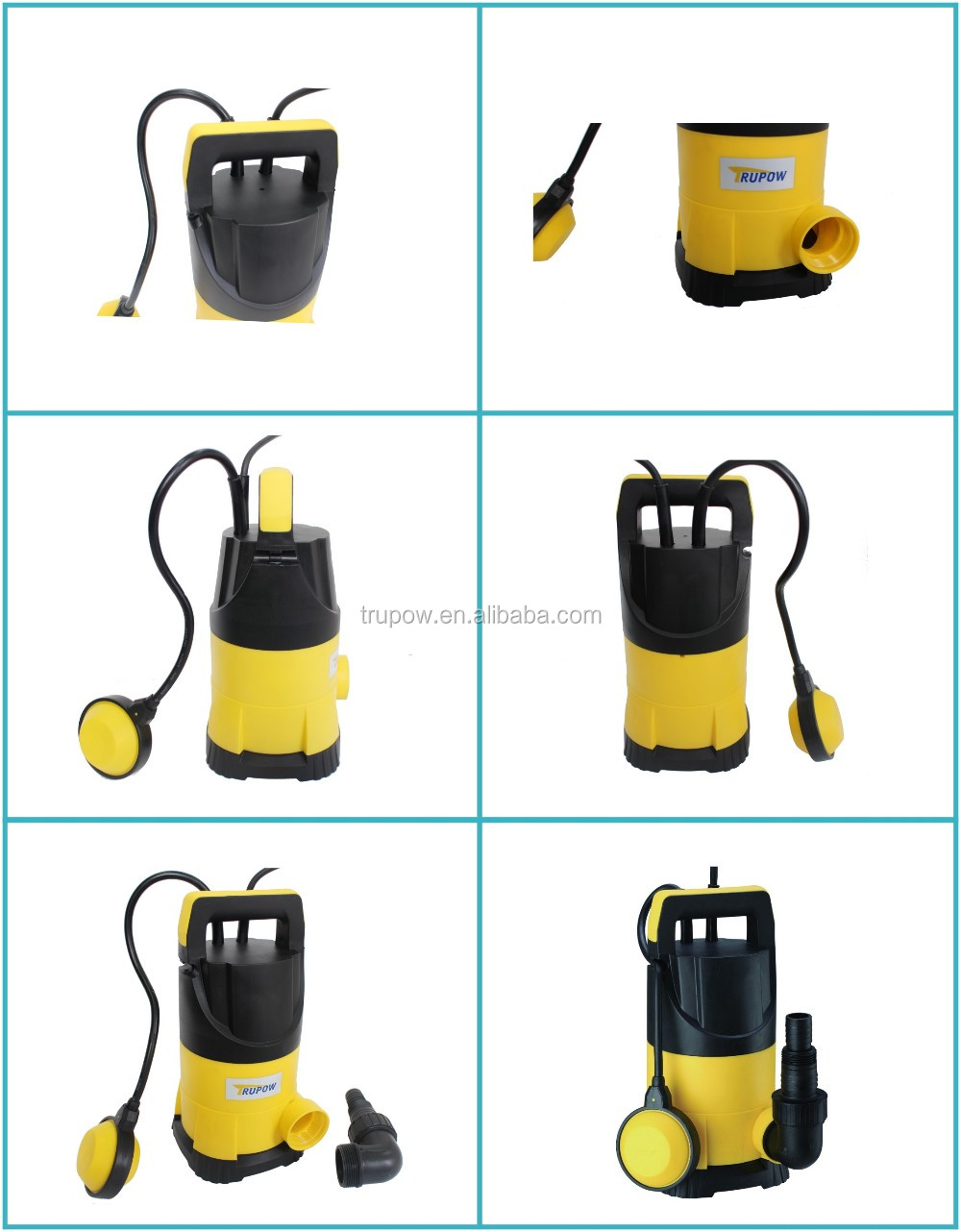 2017 China New Plastic Submersible Electric Clean Water Pump