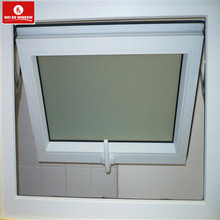 Plastic window pane pvc awning windows with grille design