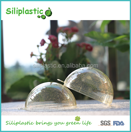 60mm Clear Hollow Design Christmas Baubles Personalized Ornaments