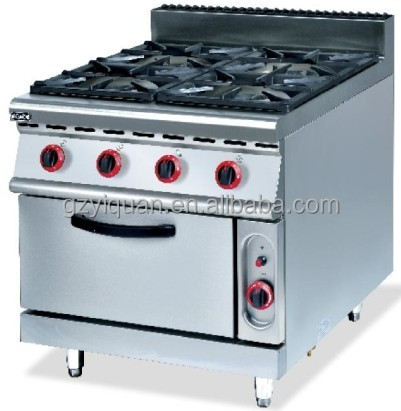 Commercial 4 burner gas stove with oven/ Gas Range With 4 Burner & Oven/ Restaurant equipment
