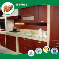 cherry melamine particle board/particle board kitchen cabinets