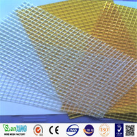 Factory Direct Sell High Quality 5*5 110g orange color Fiberglass Mesh/roofing fiberglass mesh/plaster wire mesh(really factory)