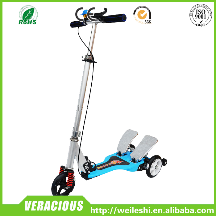 2017 newest Hot sale 3 wheel dual pedal kick scooter for sale