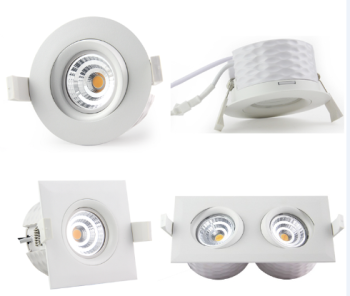 Recessed cutout83mm dimmable 9w led downlight ip44