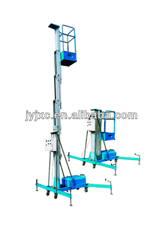 6m single mast electric aluminium man lift