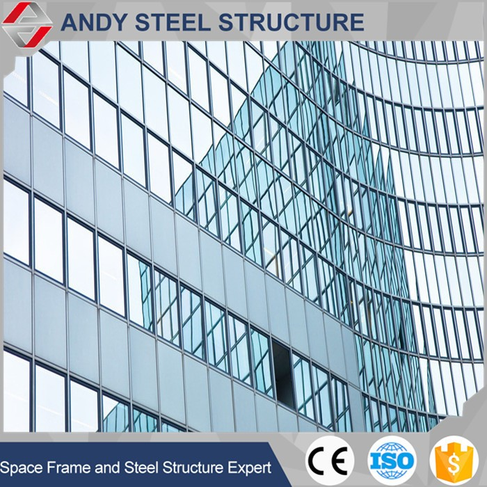 High quality glass curtain wall price
