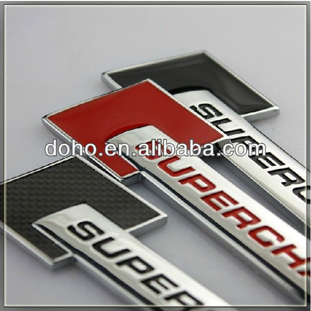 Custom ABS Chrome car emblems and self-adhesive chrome car logo emblems,custom made car metal emblems (ss-3398)