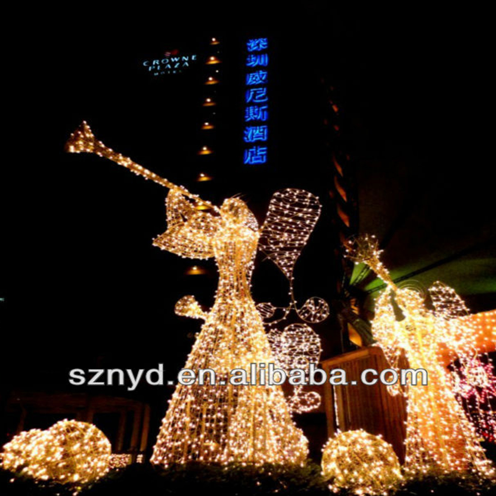 Christmas light 3d led lighted angel outdoor christmas for Angel outdoor decoration