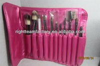 rose red cosmetic makeup brushes set 11 pcs
