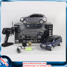 Authorized scale rc car 1:18 4ch mode car led light remote control battery car HQ200121