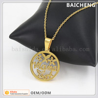 Happy mother's day jewelry Printing Circle pendant High polishing pendant