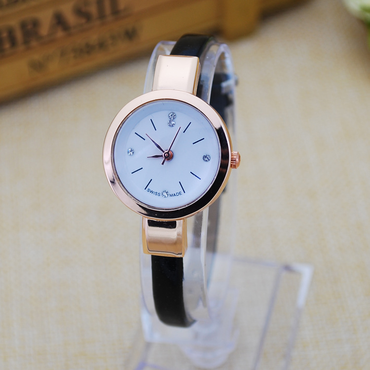 ladies vogue slim watch women bracelt leather quartz watch for birthday gift watches oem