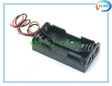 "Plastic Battery Storage Case Box Holder for 2AA Battery with 6"" Cable Lead"