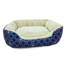 Wholesale Bones Paws Plaid Print Dog Bed, Pet Supplies