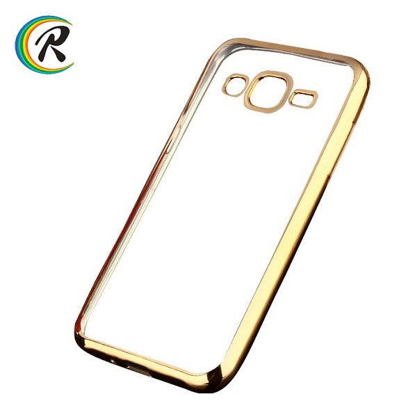Transparent for samsung galaxy s3 cover for Samsung J1 J1 2016 crystal plating bumper tpu case