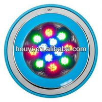 Free shipping High brightness Full color 54W pool lamp spa/pond/fountain wall mounted led floating underwater light