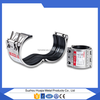 CHINESE SUPPLIER, Stainless steel high pressure repair clamp, for gas and oil/ round tube flexible