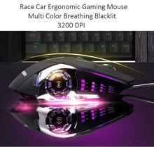 Amazon Best Seller Wired racing car shape Mouse 3200 DPI Optical Gaming Mouse Mice for Computer