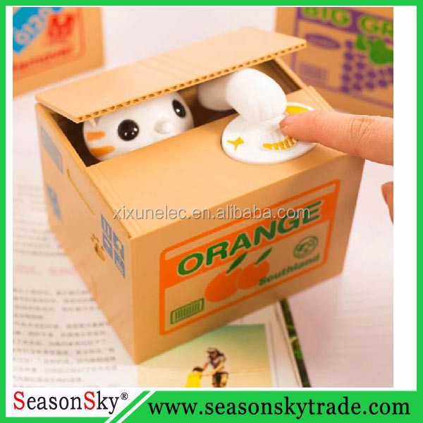 Mischief Steal Cat Saving Box Electronic Money Box