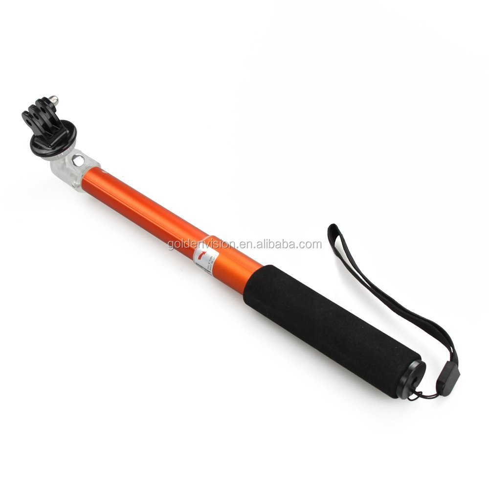 New Orange Camare Extender Tripod Pole Telescoping Handheld Self-portrait 52cm Monopod for Gopro Hero and All Compact Camera