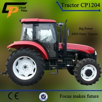 four wheel drive strong power wheel 120hp tractor