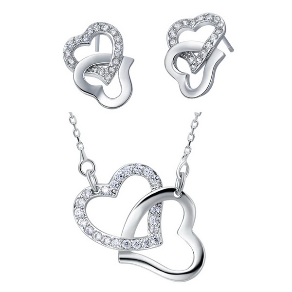 Trendy best sell silver hollow ball jewelry set