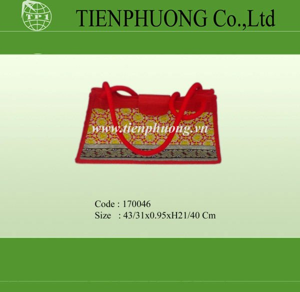 Lady bamboo shopping bag