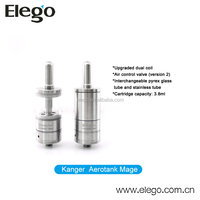 China Market of Airflow Control Valve 2 Stainless Steel Glassomizer Kanger Mega Aerotank Mega