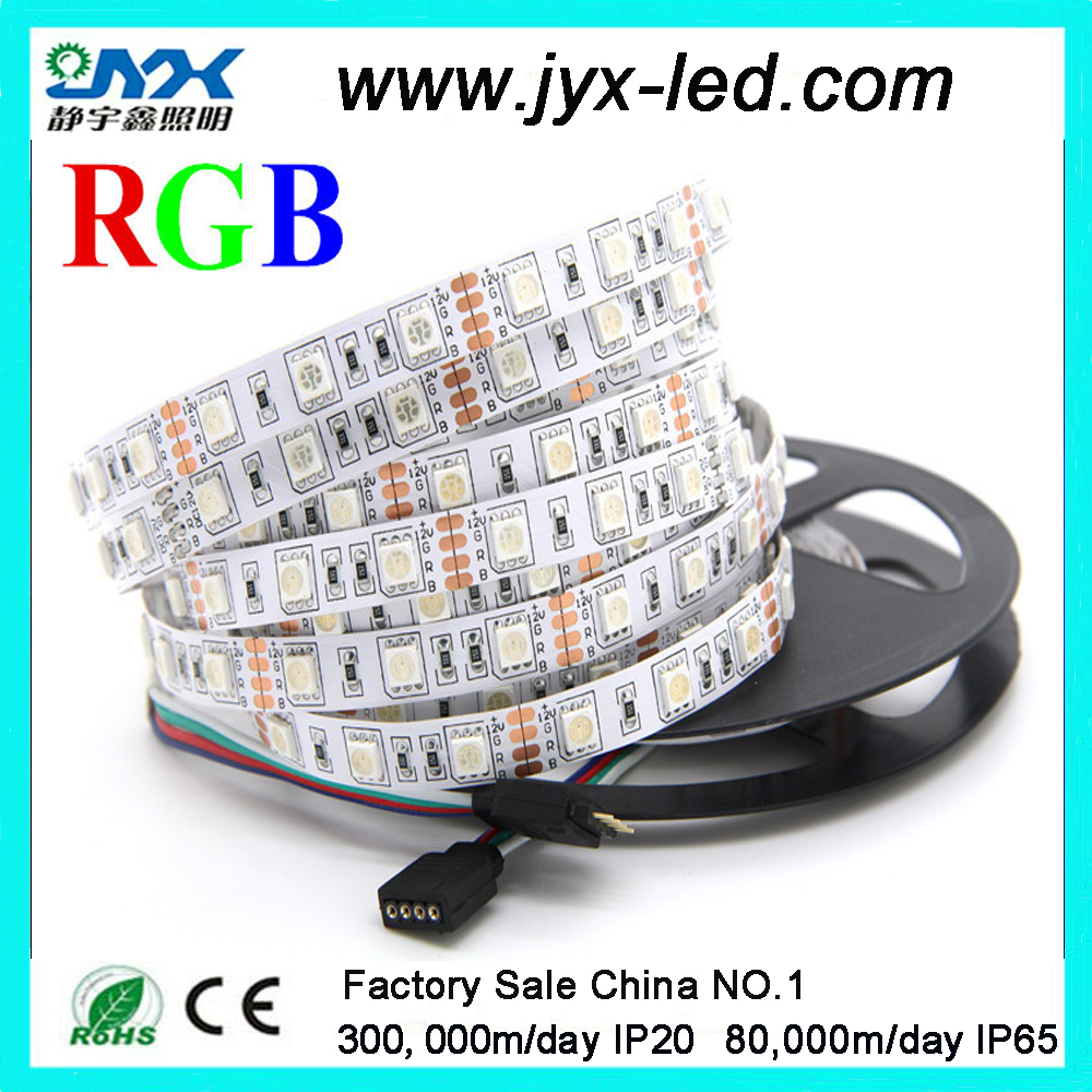 300 leds per roll SMD 5050 rgb multicolor 60leds/m flex led strip for indoor use or outdoor use