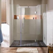 Top cover shower room and bathroom ceiling with shower door handle