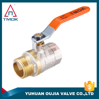 TMOK TK-5002 Full Bore Forged Brass Water Ball Valve Female/Male BSPP thread Screwed End CE ball valve 2pc Control Ball Valve