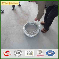 Galvanize Surface Treatment and Iron Wire Material razor barbed wire