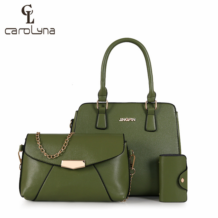 2019 Embossed Affordable Handbag 3 Bags/Set High Quality Women Tote Bag Shoulder Bags
