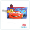2 zipper 2 layer CARS PVC print pencil case