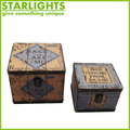 super quality antique wooden book box storage wooden box