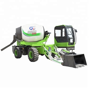 2.6 M3 self loading mobile concrete mixer with 270 degree slewing drum
