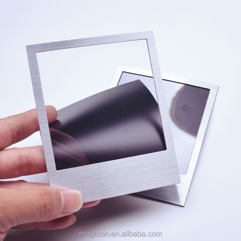 cool silver customized magnetic photo frame