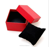 pu leather red gift packaging boxes custom luxury watch box with lid for wholesale