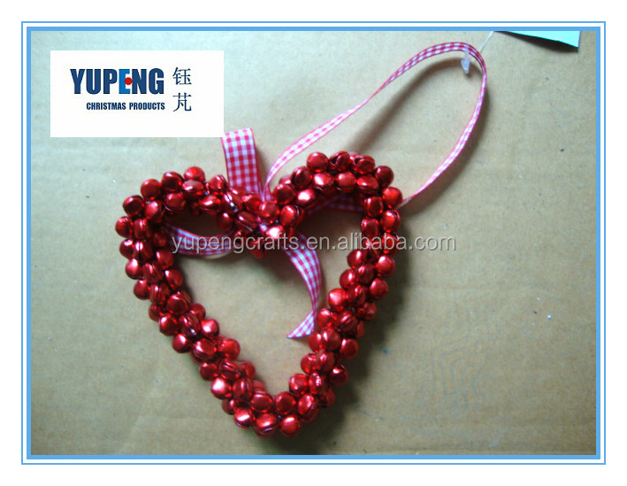 Heart Shape Christmas Jingle Bell Christmas Door Wreath