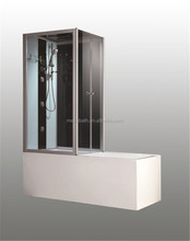 Corner rectangular soaking enclosure small acrylic bathtubs with jets shower combo for sale