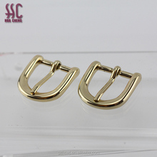 2017 new shiny gold metal belt buckle clasp small shape pin buckle
