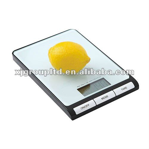 Kitchen scale glass platform LCD display