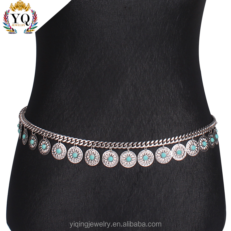 BEYQ-00005 elegant dancing sexy belly dance waist chain waist chain for girl