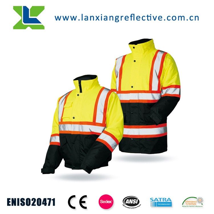 LX949-New products cheap safety trousers used hi-vis reflective tape work pants